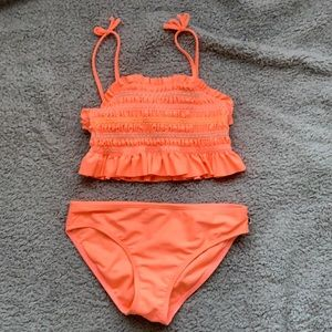 Lucky brand kids swimsuit pink, size 8 to 10